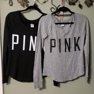 Bundle of VS PINK thermal shirts